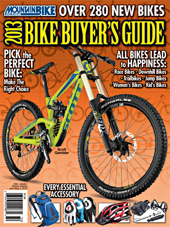 2013 mountain bike buyer s guide now on sale mountain bike action rh mbaction com Bicycling Magazine Cover December 2013 Road Bike Magazine