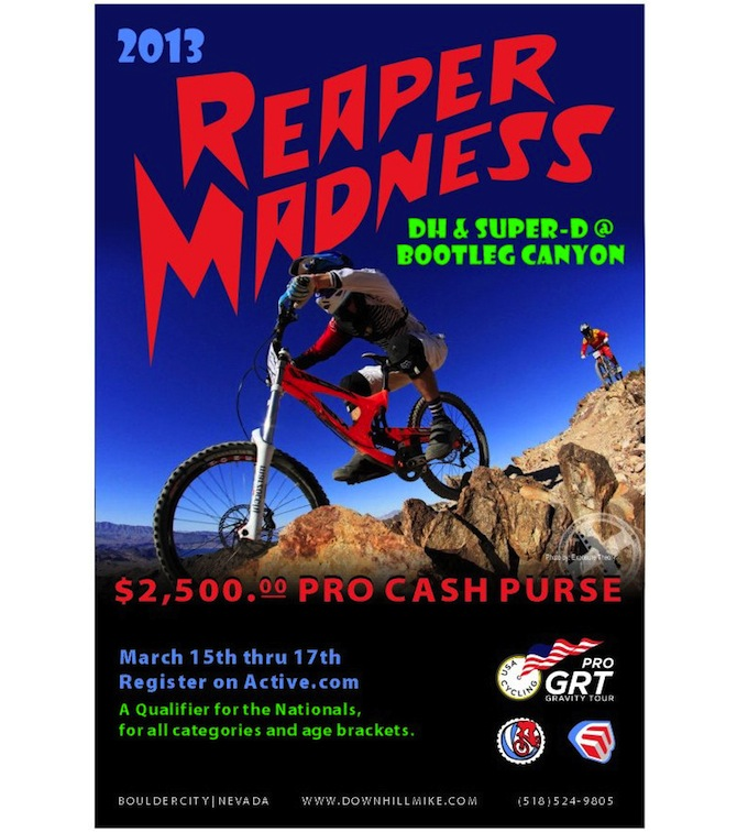 2013 Pro GRT Calendar Kicks Off in Bootleg Canyon March 15th