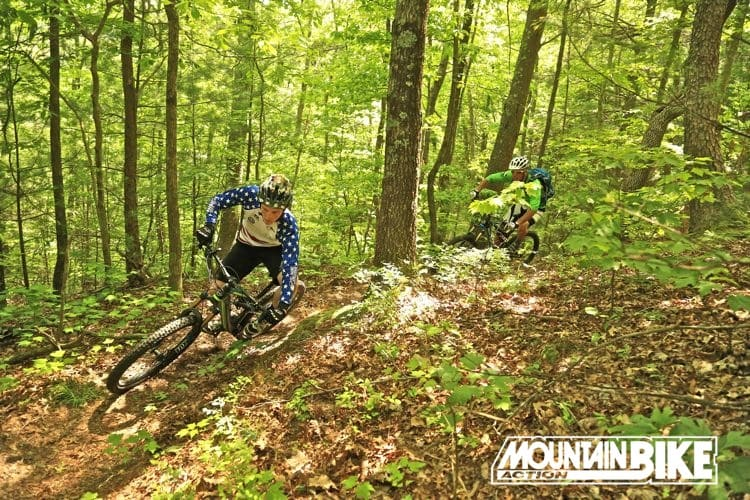 f8d6cff0acc Wes Lamberson, in the stars-and-stripes jersey, plays the weasel and our  own Sean McCoy plays the monkey, on the trails near Mulberry Gap in  northern ...