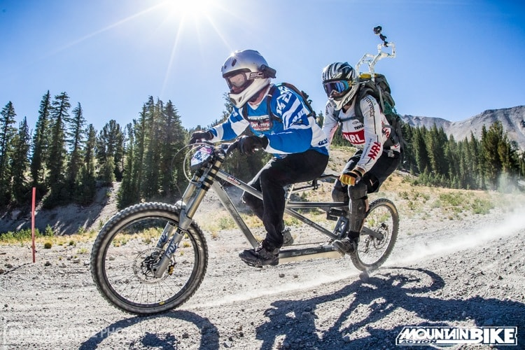 It Takes Guts To Race The Mammoth Kamikaze On A Normal Downhill Bike Even More Do Tandem Photo By Phil Beckman PB Creative