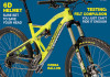 "ON THE COVER: The Orbea Rallon 27.5 stands tall in neon yellow at the Eurobike tradeshow. Shot by Mike ""so many super bikes, so little time"" Wirth."