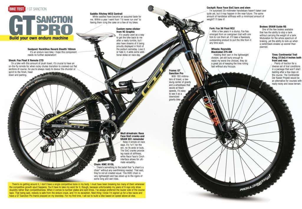 bike test gt sanction pro mountain bike action magazine. Black Bedroom Furniture Sets. Home Design Ideas