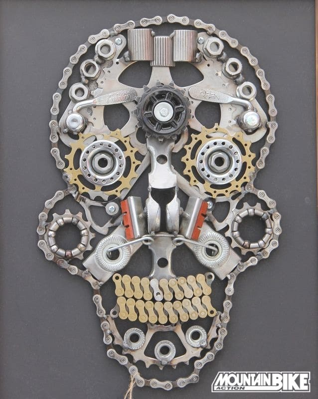 Photo Of The Day Bike Parts Art By Gnar Art Mountain Bike Action