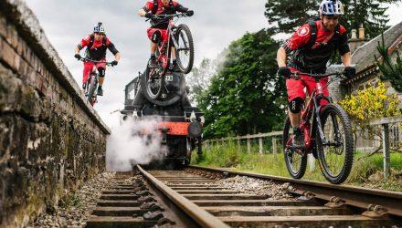 Danny MacAskill gap from platform to rail