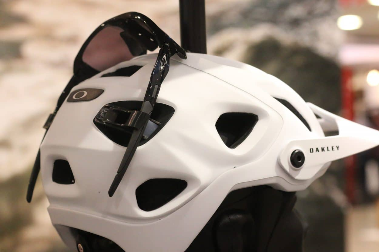 8022d5af86 A sweat liner was then added to the front of the helmet eliminating the  need to wear a sweatband. Oakley ...