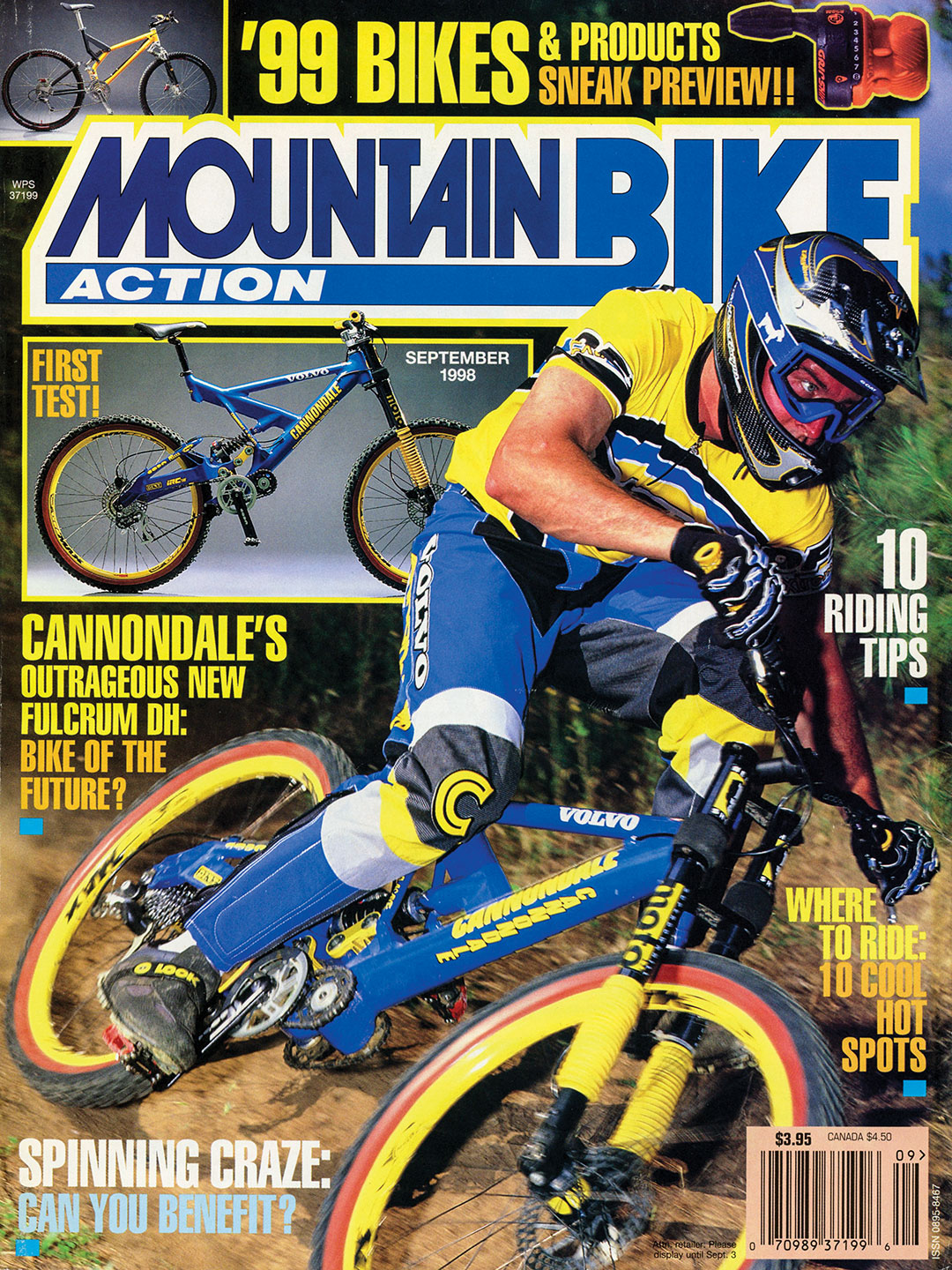 Our September 1998 Issue Featured A Ton Of 99 Bikes And Products That Were Ready To Hit The Bike Shops Besides Test Cannondale Fulcrum DH Seen