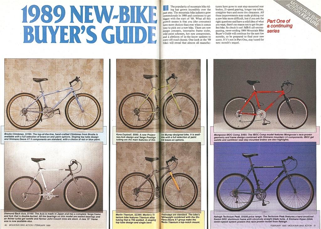 Throwback Thursday: The Bikes of 1989 | Mountain Bike Action