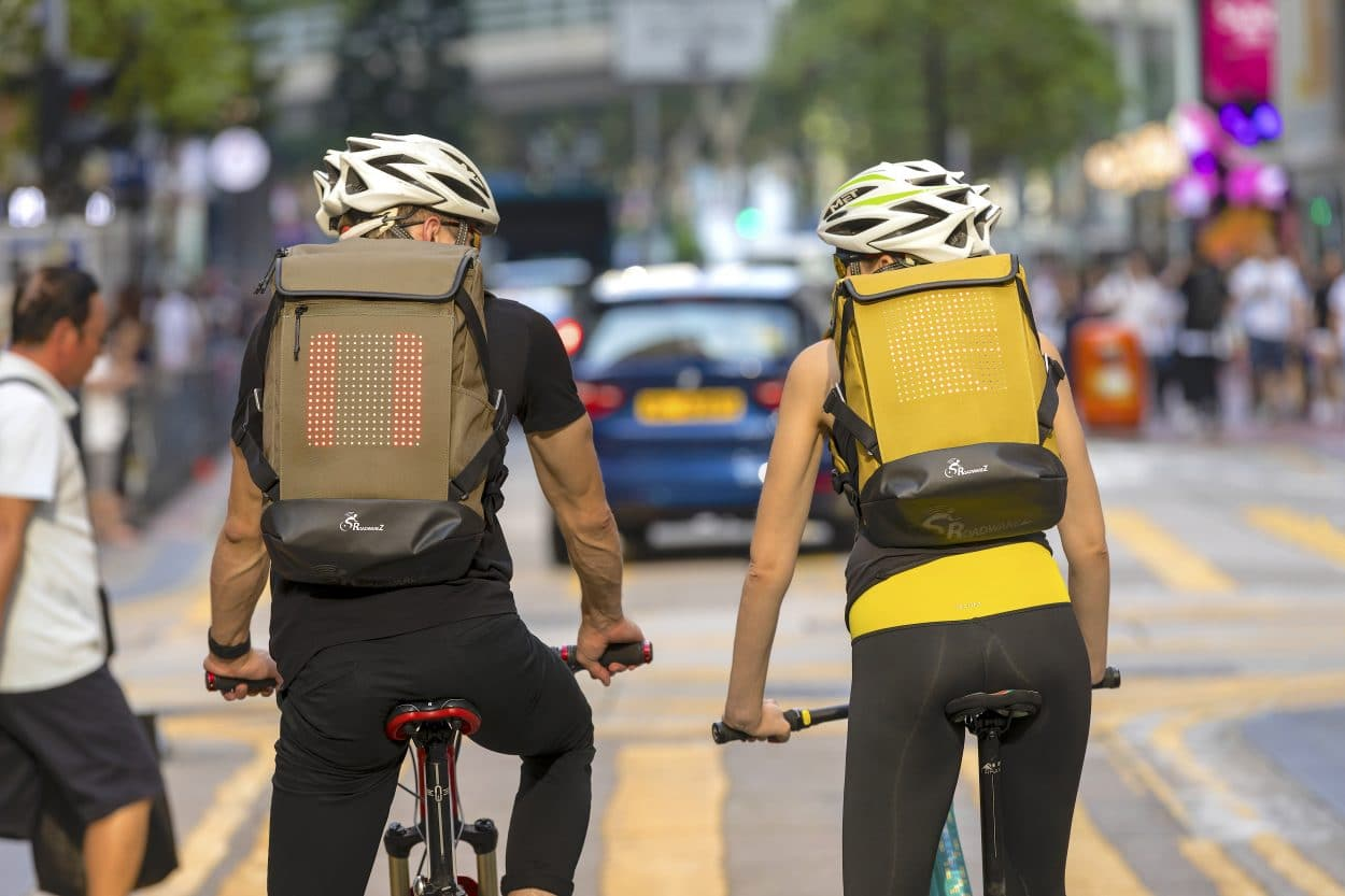 """New Product Discovery: RoadwareZ """"Smart"""" Blue Tooth Enabled Cycling Backpack 