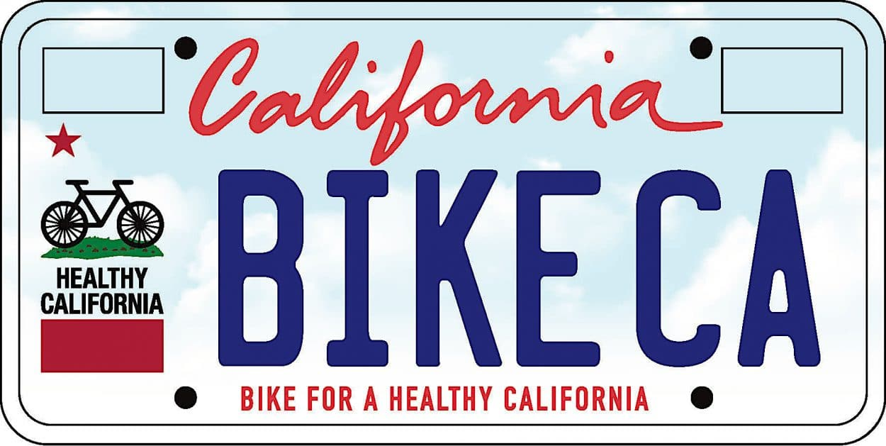 New Product Discovery: California Bike Plate Initiative   Mountain Bike Action Magazine